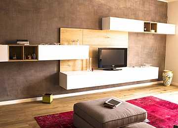 Foto immagine colore pareti soggiorno