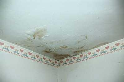 immagine di inflitrazioni di acqua dal tetto di casa