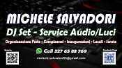 DJ MICHELE SALVADORI DJ SET SERVICE AUDIO LUCI
