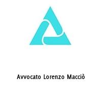 Avvocato Lorenzo Macciò