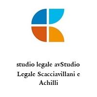studio legale avStudio Legale Scacciavillani e Achilli
