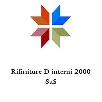 Rifiniture D interni 2000 SaS