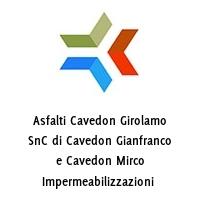 Asfalti Cavedon Girolamo SnC di Cavedon Gianfranco e Cavedon Mirco Impermeabilizzazioni