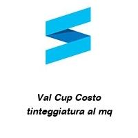 Val Cup Costo tinteggiatura al mq