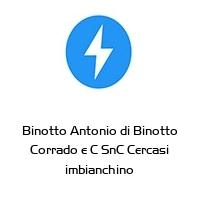 Binotto Antonio di Binotto Corrado e C SnC Cercasi imbianchino