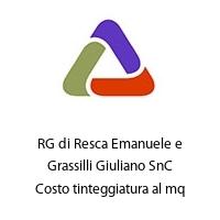 RG di Resca Emanuele e Grassilli Giuliano SnC Costo tinteggiatura al mq