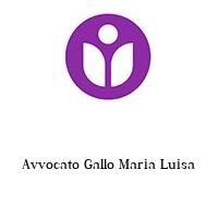 Avvocato Gallo Maria Luisa