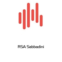 RSA Sabbadini