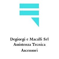Degiorgi e Macalli Srl Assistenza Tecnica Ascensori