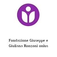 Fondazione Giuseppe e Giuliana Ronzoni onlus