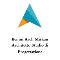 Benini Arch Miriam Architetto Studio di Progettazione