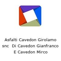 Asfalti Cavedon Girolamo snc  Di Cavedon Gianfranco E Cavedon Mirco