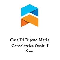 Casa Di Riposo Maria Consolatrice Ospiti I Piano