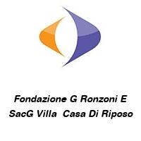 Fondazione G Ronzoni E SacG Villa  Casa Di Riposo