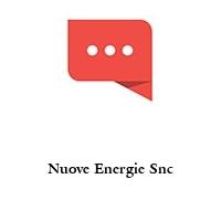 Nuove Energie Snc