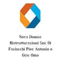 Nova Domus Ristrutturazioni Snc Di Faciocchi Pier Antonio e Giac Omo