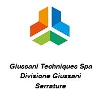 Giussani Techniques Spa Divisione Giussani Serrature
