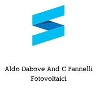 Aldo Dabove And C Pannelli Fotovoltaici