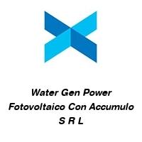 Water Gen Power Fotovoltaico Con Accumulo S R L