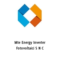 Mte Energy Inverter Fotovoltaici S N C