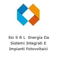 Esi S R L  Energia Da Sistemi Integrati E Impianti Fotovoltaici