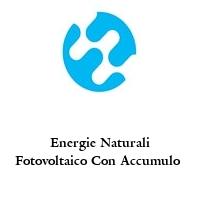 Energie Naturali Fotovoltaico Con Accumulo