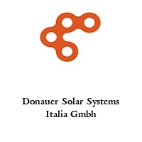 Donauer Solar Systems Italia Gmbh