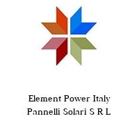 Element Power Italy Pannelli Solari S R L
