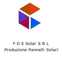F D E Solar S R L Produzione Pannelli Solari