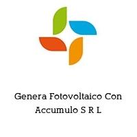 Genera Fotovoltaico Con Accumulo S R L