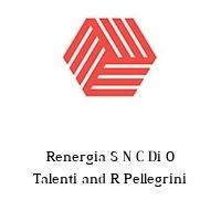 Renergia S N C Di O Talenti and R Pellegrini