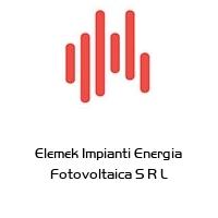 Elemek Impianti Energia Fotovoltaica S R L