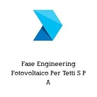 Fase Engineering Fotovoltaico Per Tetti S P A