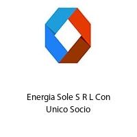 Energia Sole S R L Con Unico Socio