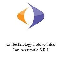Esatechnology Fotovoltaico Con Accumulo S R L