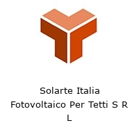 Solarte Italia Fotovoltaico Per Tetti S R L
