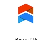 Marocco F Lli