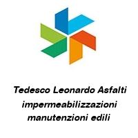 Tedesco Leonardo Asfalti impermeabilizzazioni manutenzioni edili