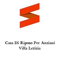 Casa Di Riposo Per Anziani Villa Letizia
