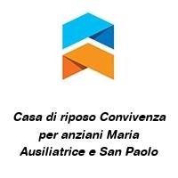 Casa di riposo Convivenza per anziani Maria Ausiliatrice e San Paolo