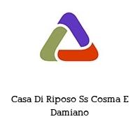 Casa Di Riposo Ss Cosma E Damiano