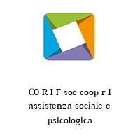 CO R I F soc coop r l assistenza sociale e psicologica