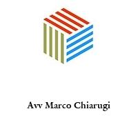 Avv Marco Chiarugi