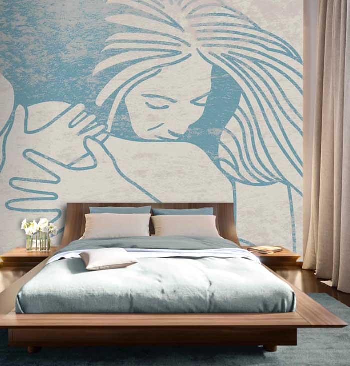 La carta da parati in camera da letto 8 utili consigli for Carta da parati per testata letto