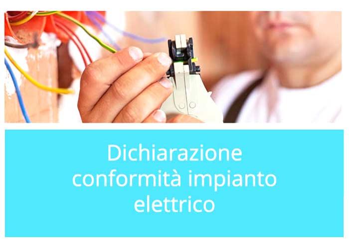 Dichiarazione conformità impianto elettrico
