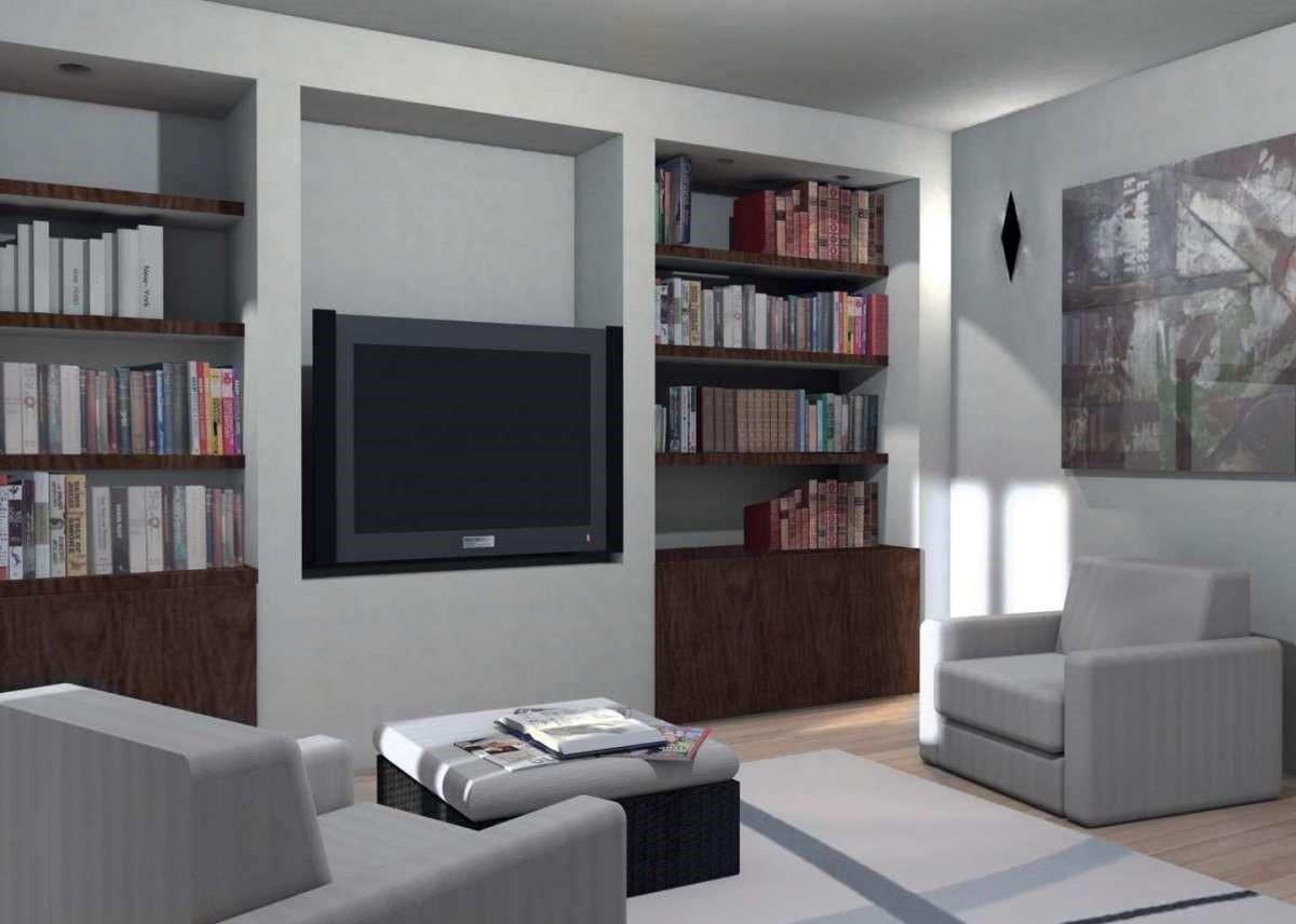 Ante Per Libreria Cartongesso mobili in cartongesso: la soluzione per la vostra tv