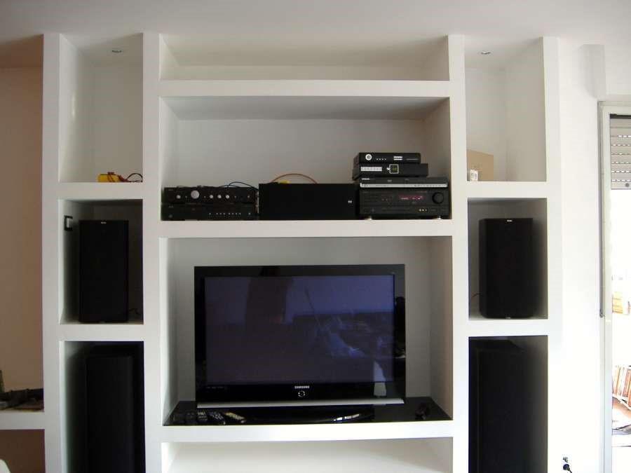 foto porta tv in cartongesso soggiorno