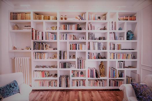 Librerie in cartongesso tutta parete