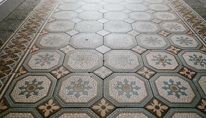pavimento in cemento stampato per interni