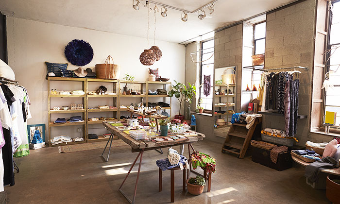 negozio stile naif ristrutturato